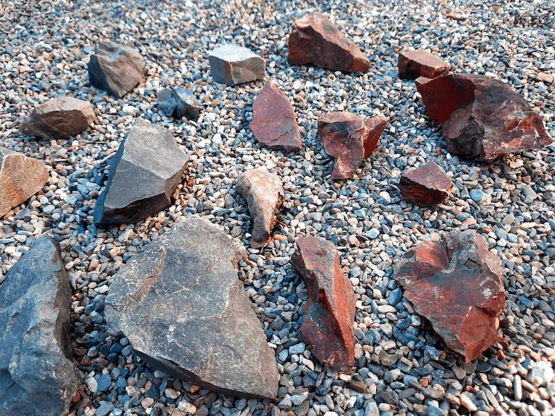 アクアリウム-水草水槽-石組レイアウト-レイアウト方法-川辺-自然採取-天日干し