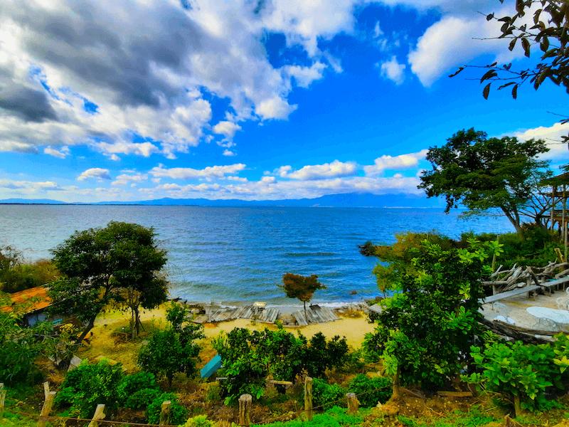 滋賀県-カフェ-琵琶湖-周辺-景色-湖岸-シャーレ水ヶ浜-cafe-chalet-琵琶湖景色-絶景