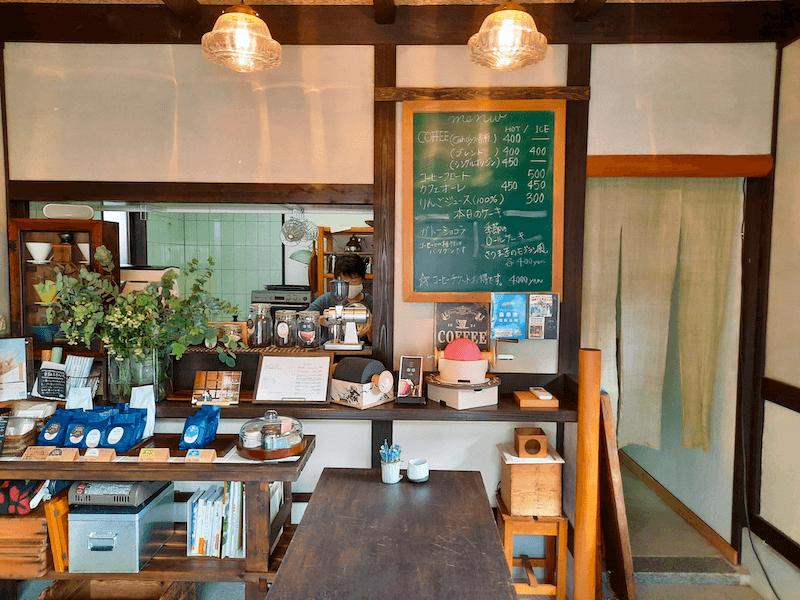 滋賀県-東近江市-五個荘町-カフェ-珈琲屋-cafe-coffee-珈悦焙煎処-メニュー-menu-店内